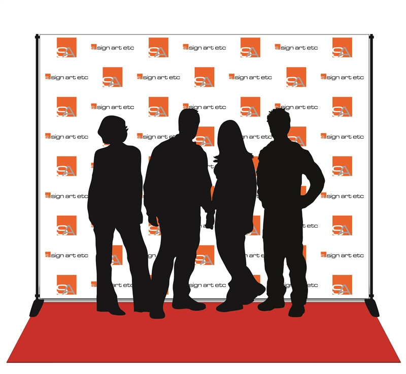 Hollywood Style Backdrop 8x10 With Stand And Red Carpet