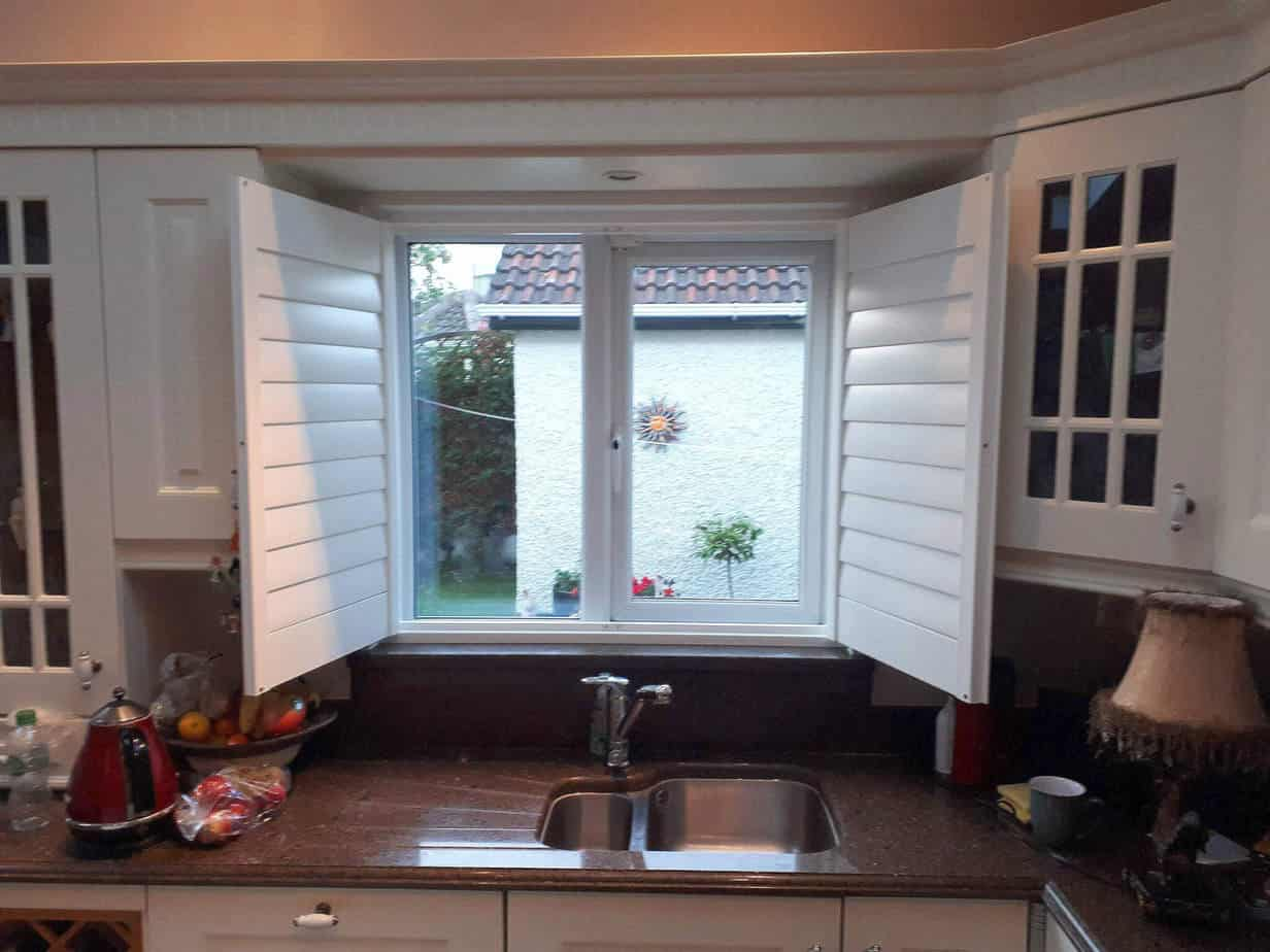 kitchen window shutters 1950 table and chairs plantation shutter installed on a luttrelstown dublin 15