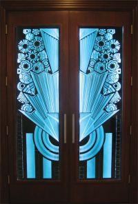 Double Entry Door - Art Deco : Doors - Signature Art Glass ...