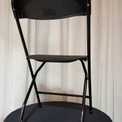 Black Chair Covers For Folding Chairs Pub Table Signature Events