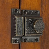 Signature Hardware Solid Brass Cabinet Latch with Flower ...