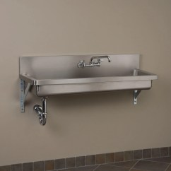 Deep Kitchen Sink How Much Is A Remodel Signature Hardware Stainless Steel Wall Mount Commercial