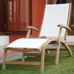 Patio Lounge Chairs Target Big Lots Chair Slipcovers Signature Hardware Rivera Teak Sling Steamer