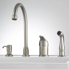 Widespread Kitchen Faucet Cabinets Cost Solo With Side Spray And Soap