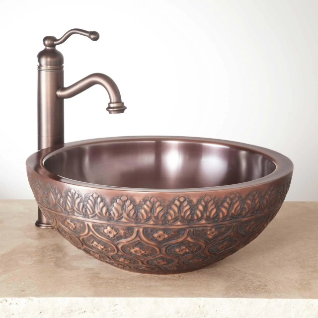 Copper Bathroom Vessel Sink