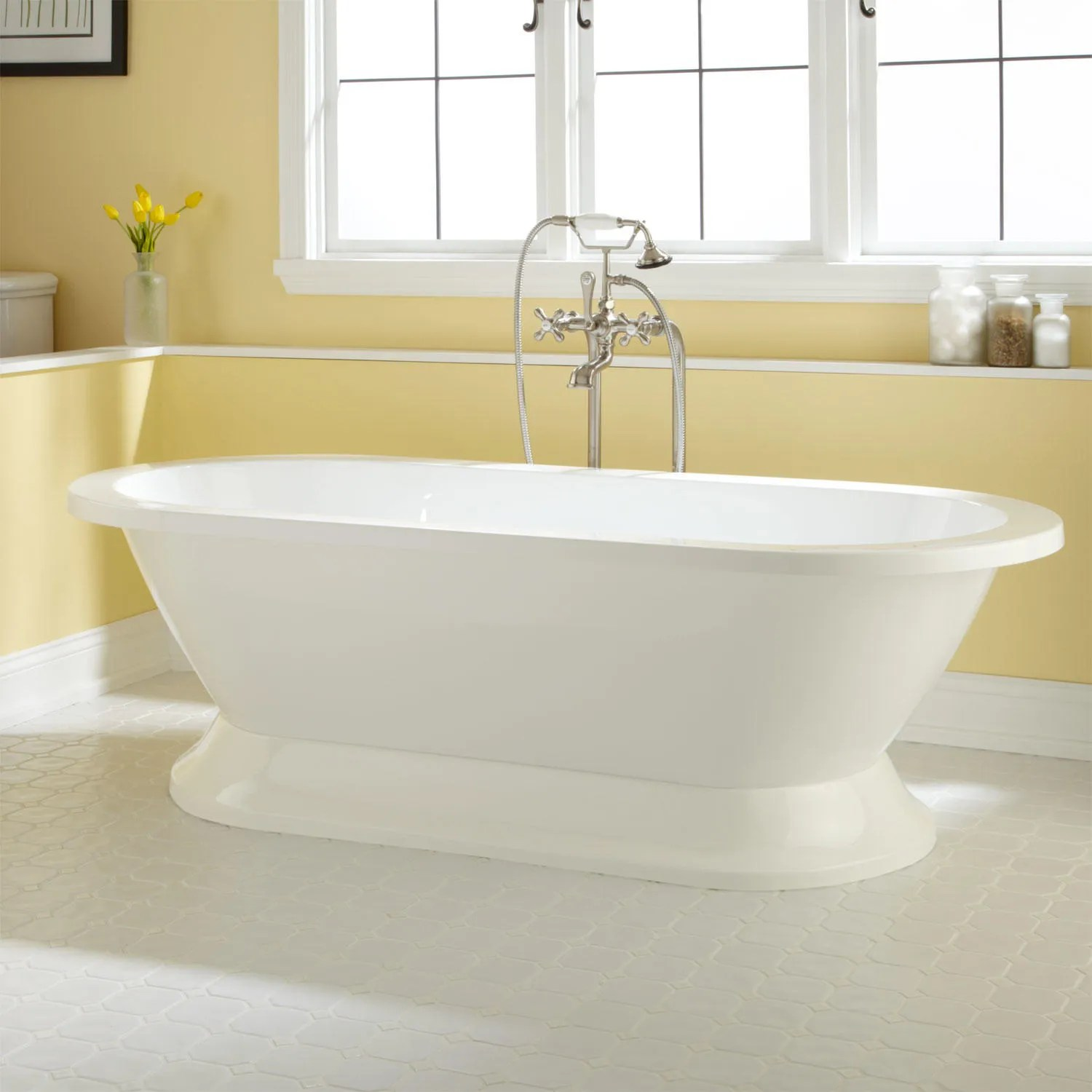 Liam Acrylic Pedestal Tub  Bathtubs  Bathroom