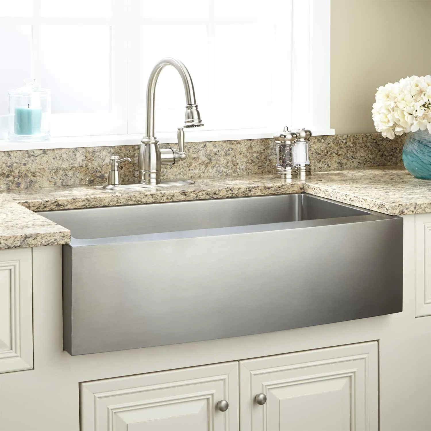 36 Optimum Stainless Steel Farmhouse Sink Curved
