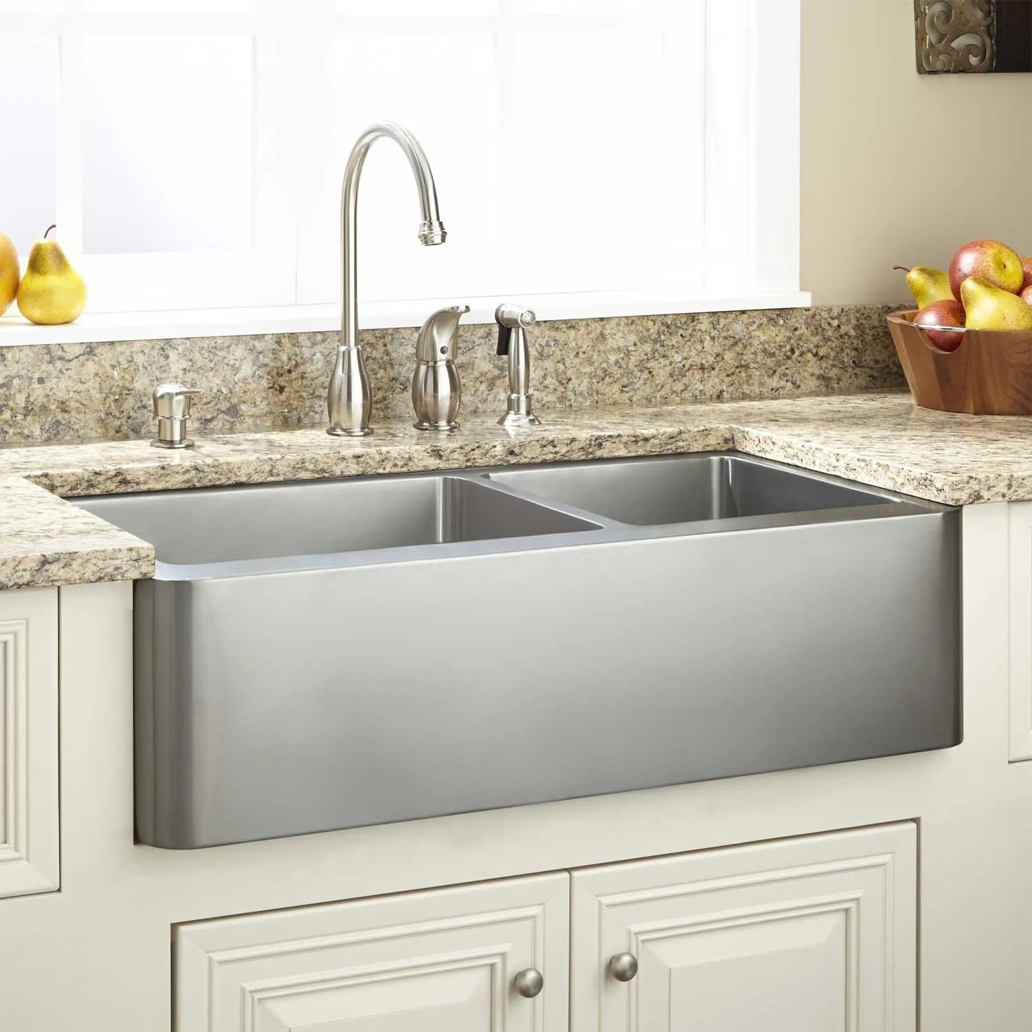 27 Hazelton Stainless Steel Farmhouse Sink Kitchen