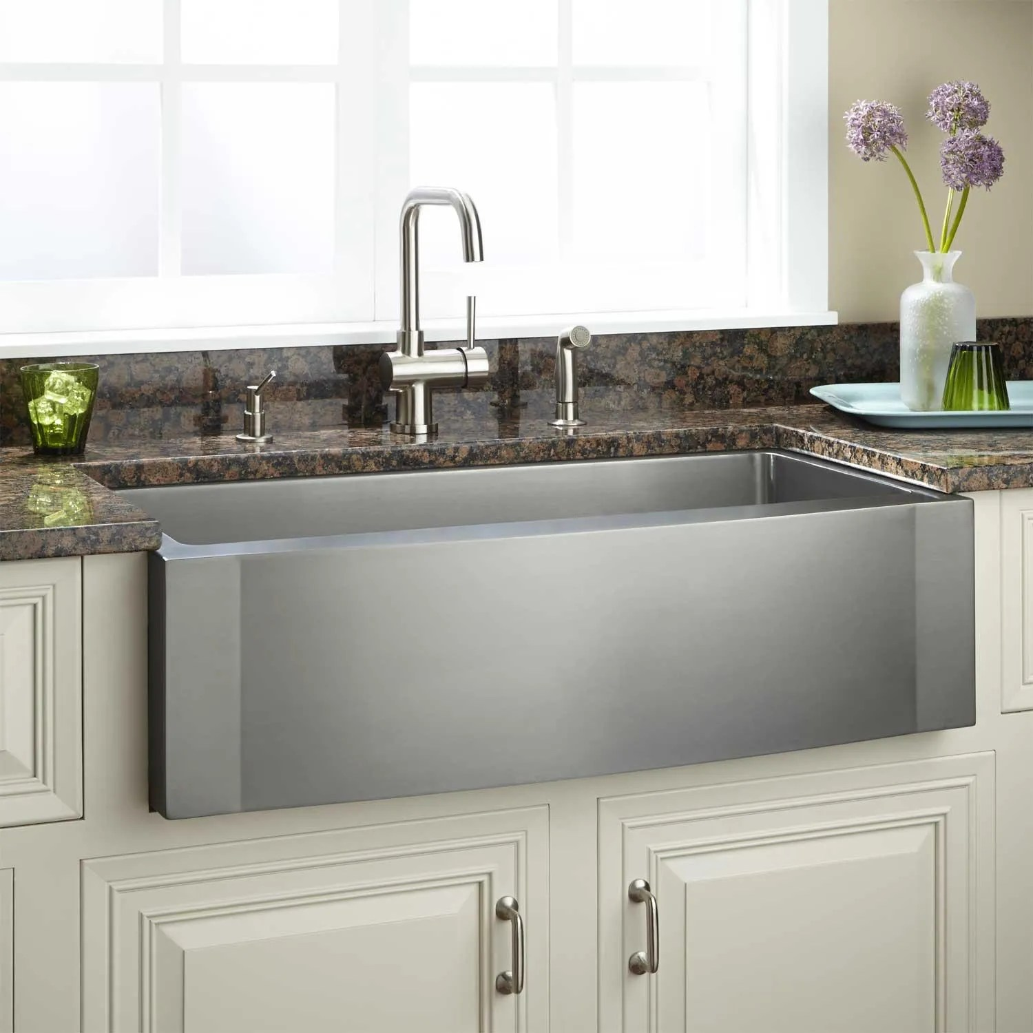 farmers kitchen sink runners 27 quot optimum stainless steel farmhouse curved front