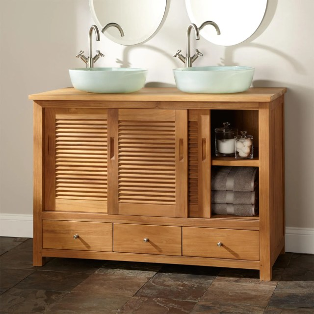 Double Sink Freestanding Vanity