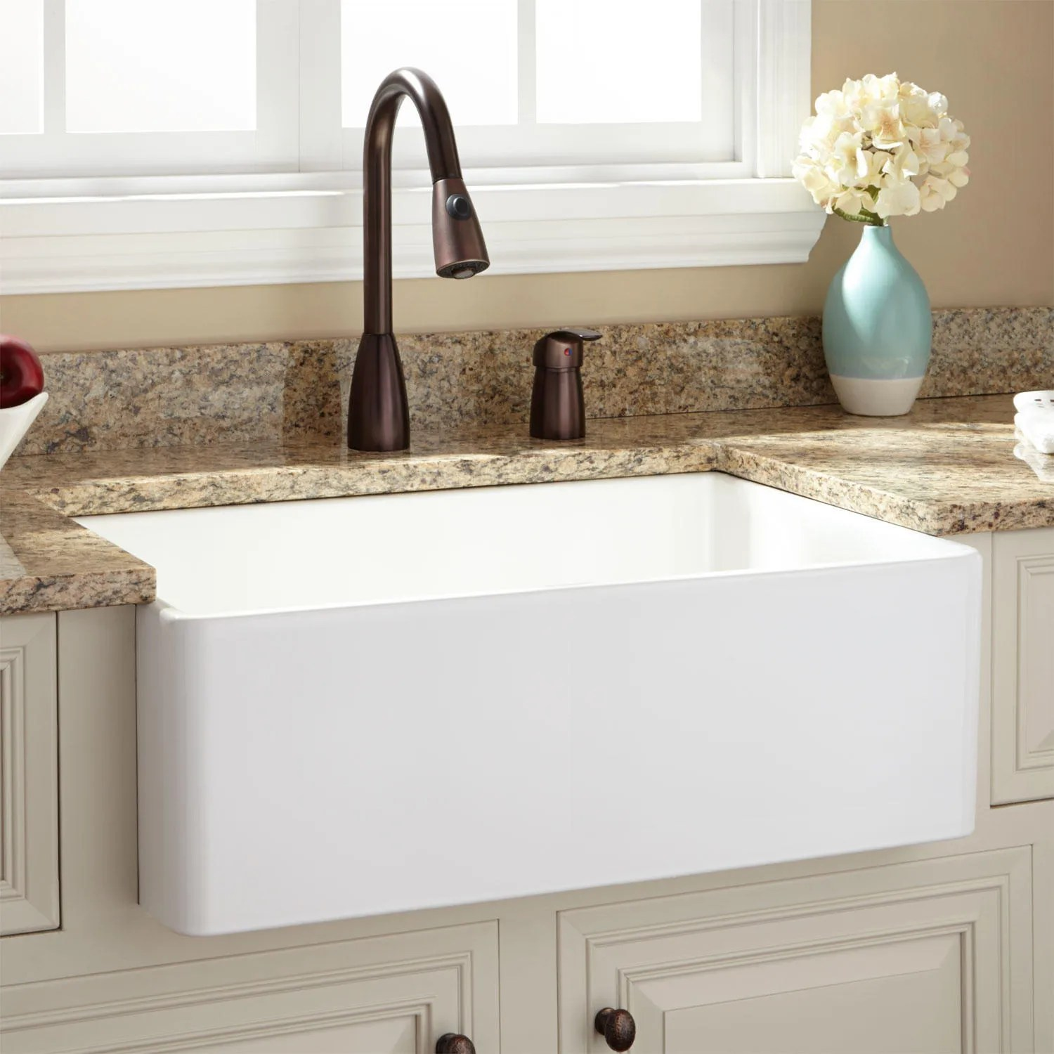 30quot Baldwin Fireclay Farmhouse Sink With Smooth Apron Ebay
