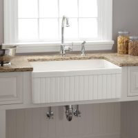 "18"" Ellyce Fireclay Farmhouse Sink with Overflow"