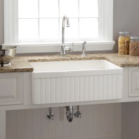 """18"""" Ellyce Fireclay Farmhouse Sink with Overflow - White ..."""