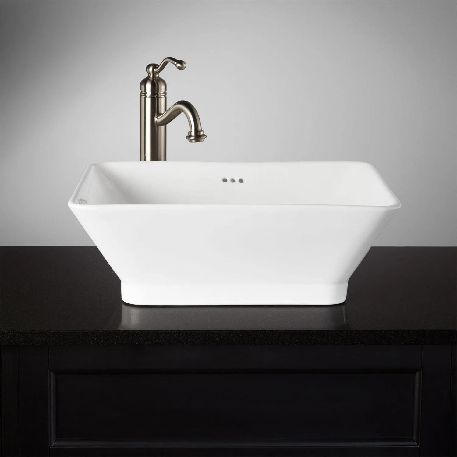 Rectangular Bathroom Vessel Sink  Signaturehardwarecom