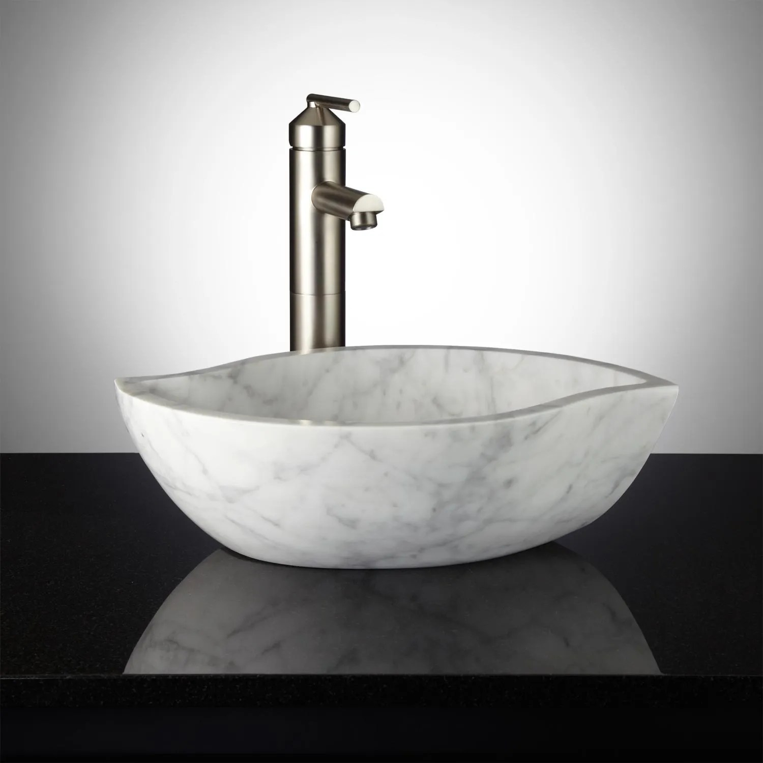 Signature Hardware Pontus Carrara Marble Bathroom Vessel Sink  eBay