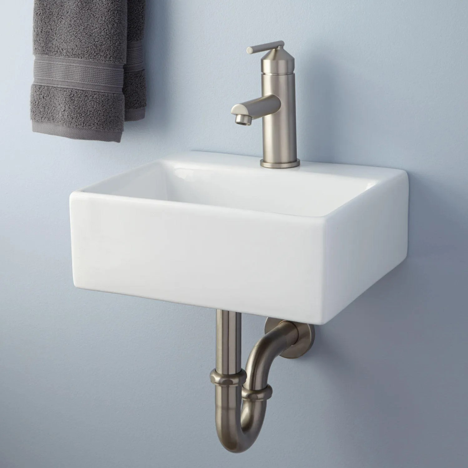 Cassin DoubleBowl WallMount Bathroom Sink  Bathroom