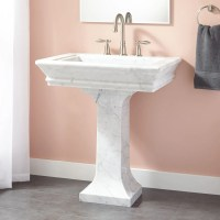 Pedestal Sink. Simple Pedestal Sink Floor Mirror Toliet ...