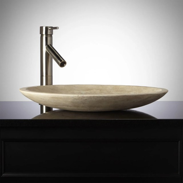 Carved Vessel Sink
