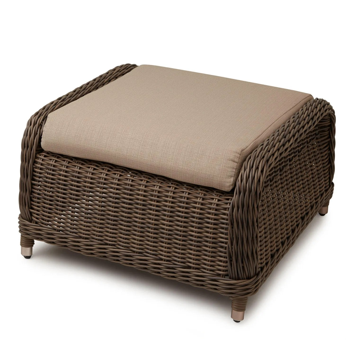 resin wicker chair with ottoman animal plush alcee sofa and cushion outdoor