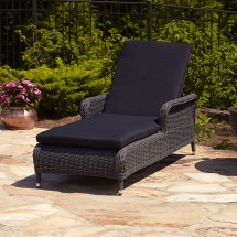Signature Hardware Alcee Resin Wicker Chaise Lounge Chair