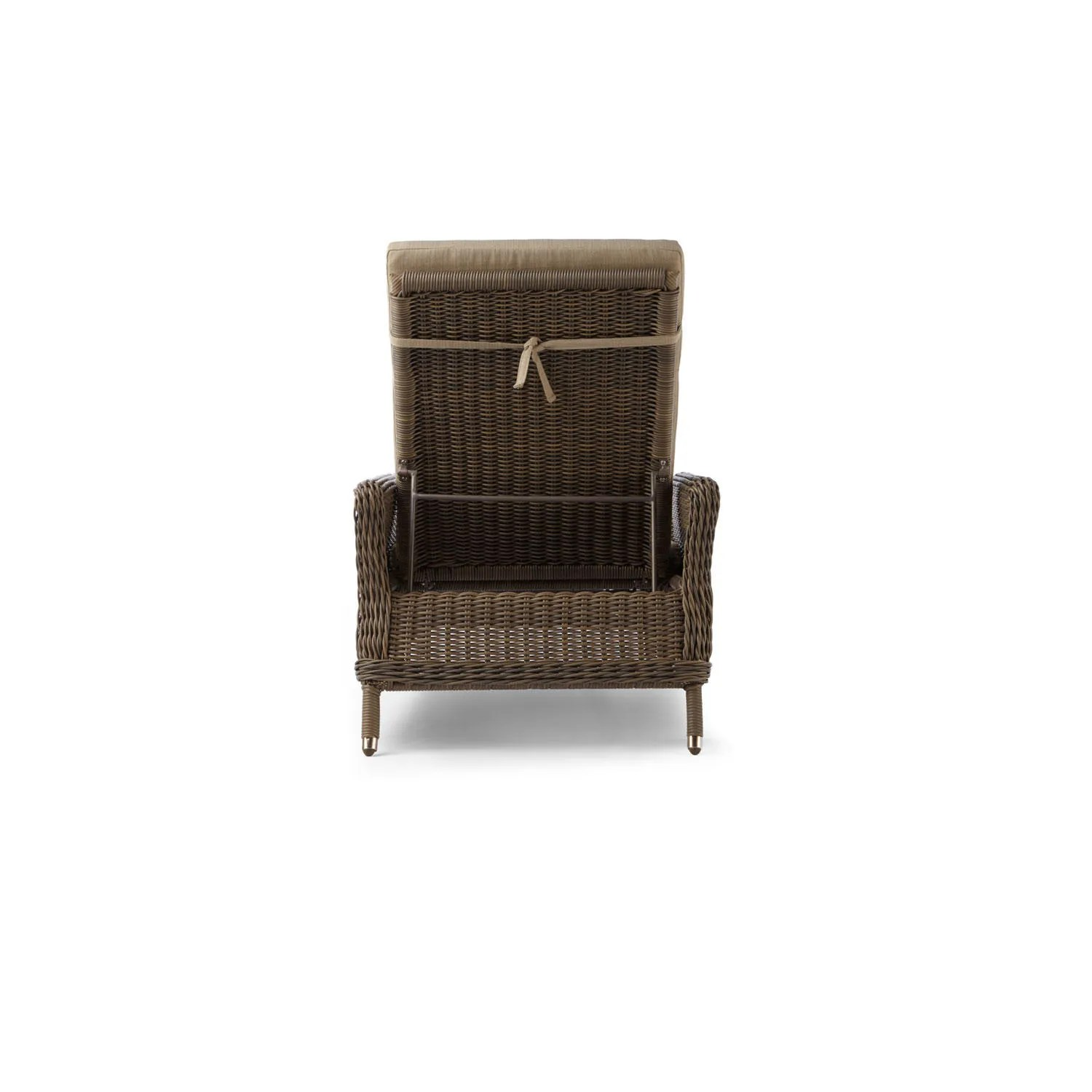 resin lounge chair seat covers dining room signature hardware alcee wicker chaise