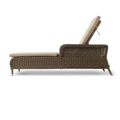 Wicker Lounge Chair Chairs For Small Spaces Alcee Resin Chaise And Cushion Ebay
