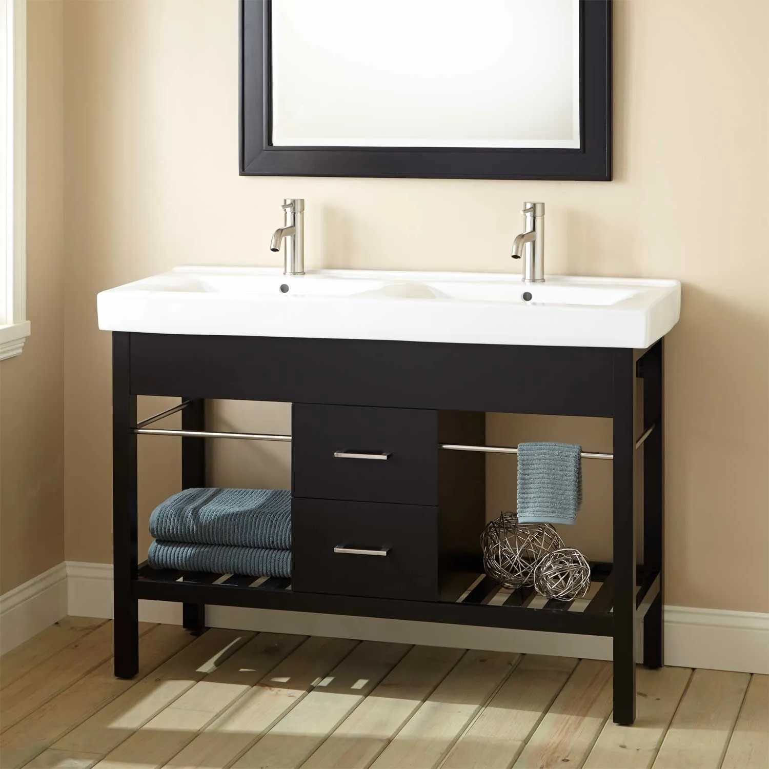 Double Sink Freestanding Vanity  Signaturehardwarecom