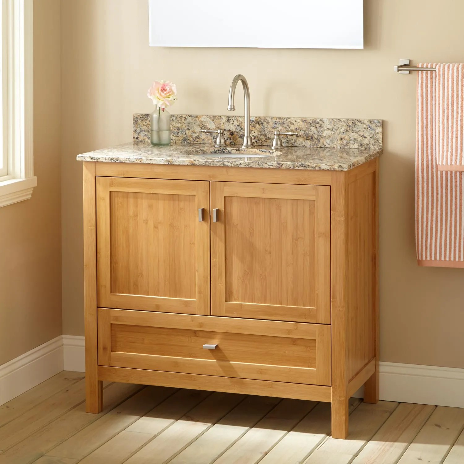 36 Narrow Depth Alcott Bamboo Vanity for Undermount