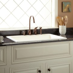 Drop In Farmhouse Kitchen Sinks Outdoor Island Frame Kit 42 Quot Cast Iron Wall Hung Sink With Drainboard