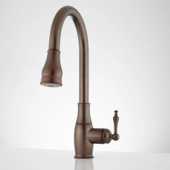 Oil Rubbed Bronze Pull Down Kitchen Faucet Wood Chairs Signature Hardware Destan Single Hole