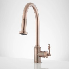 Antique Copper Kitchen Faucet Child Play Signature Hardware Westgate Single Hole Pull Down