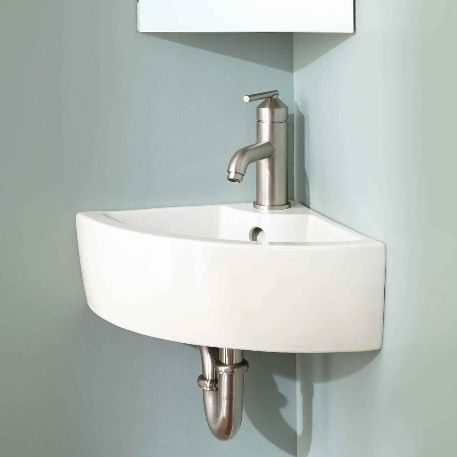 Signature Hardware Amelda Wall Mount Corner Bathroom Sink