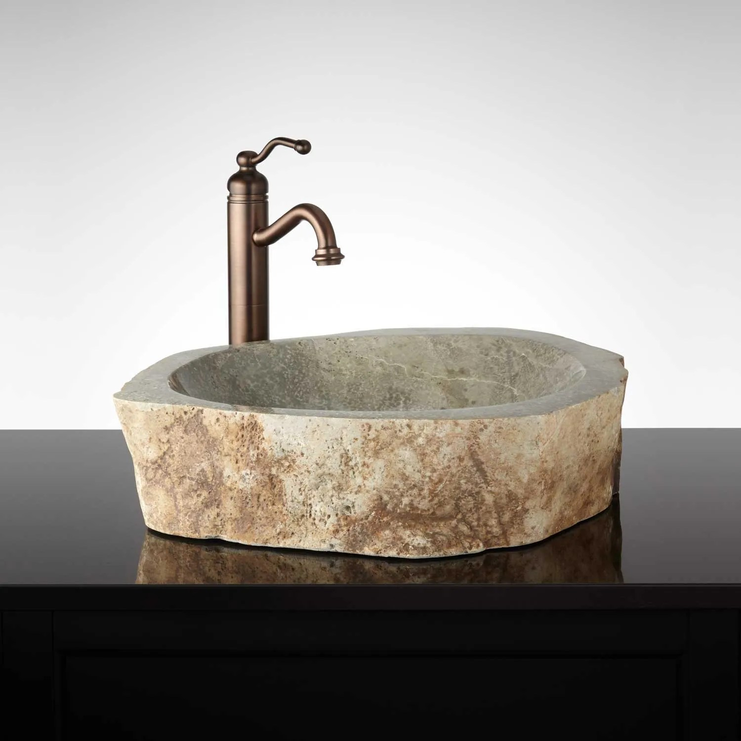 Signature Hardware Offuta Natural Stone Vessel Sink  eBay
