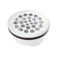 "3 1/2"" Round Offset PVC Shower Drain with 2"" Drain ..."