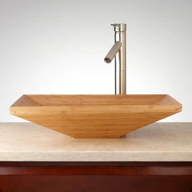 Rectangular Bathroom Vessel Sink