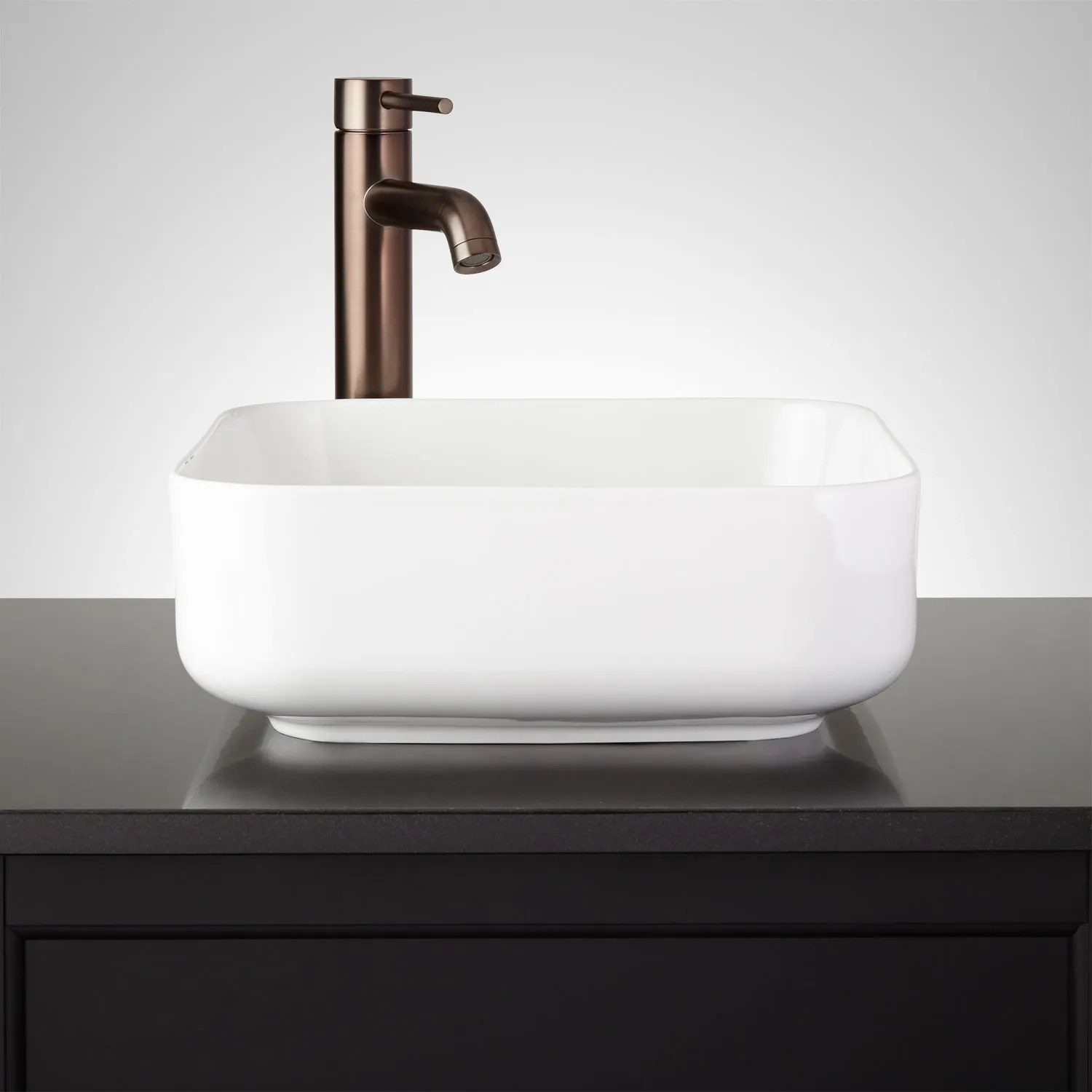 Square Contemporary Vessel Sink  Signature Hardware