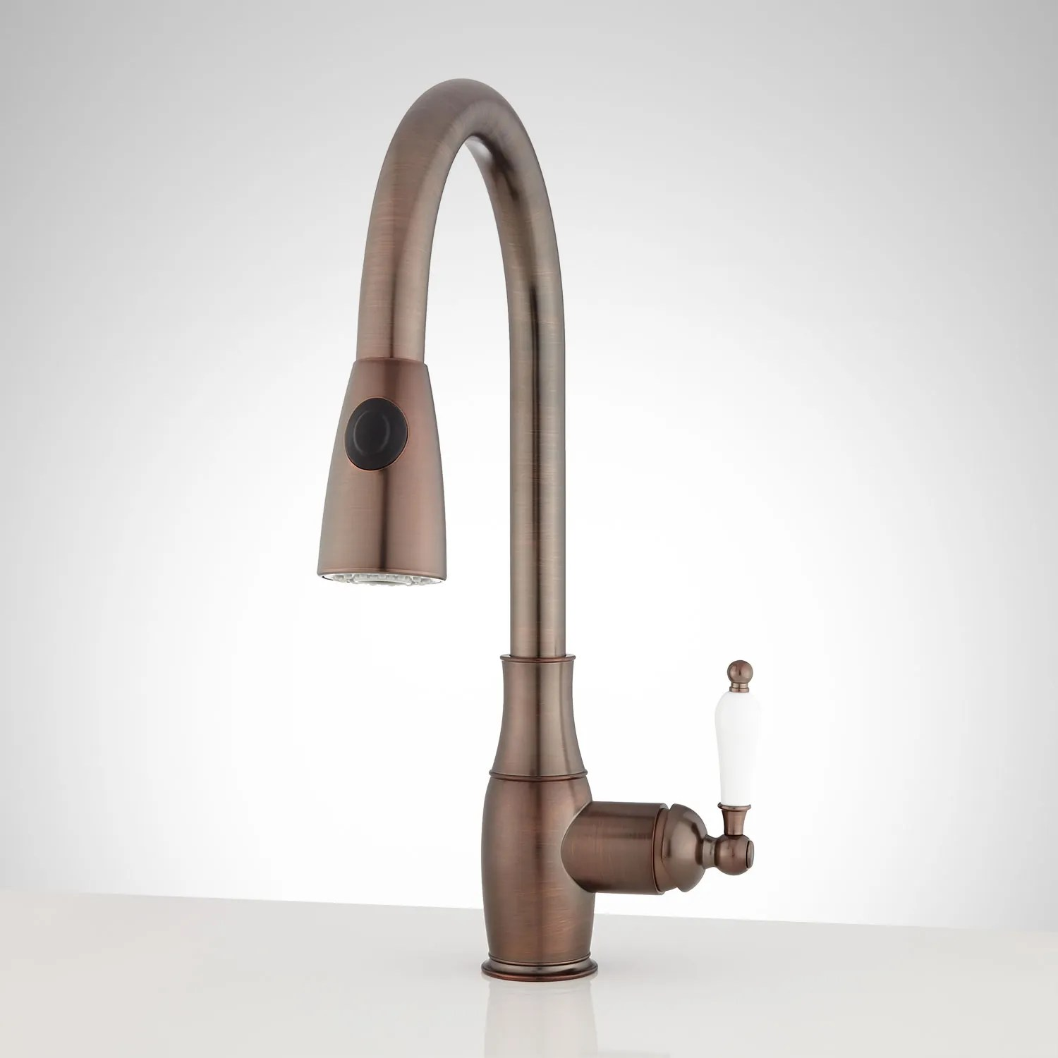 bronze pull down kitchen faucet upholstered chairs oil rubbed signature hardware