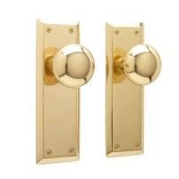 New York Door Knob & Plate Set - Privacy, Passage and ...