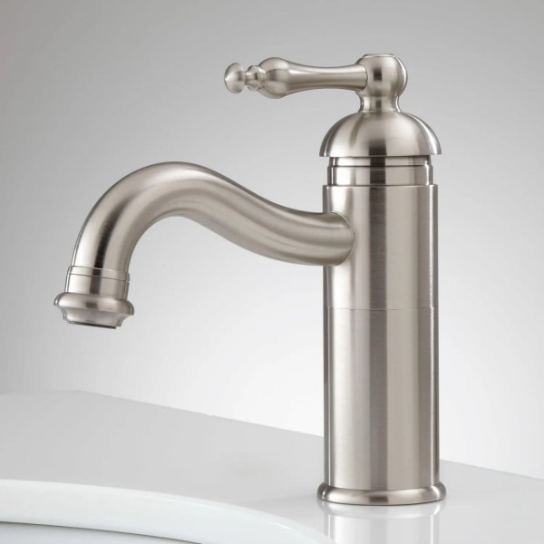 single hole bathroom faucet with pop up drain Lebroc Single-Hole Bathroom Faucet with Pop-Up Drain