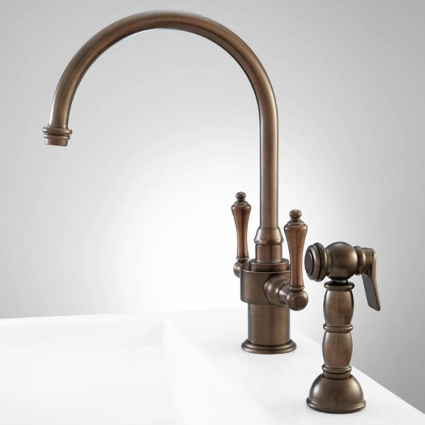 single hole kitchen faucet with side spray Aiken Single-Hole Kitchen Faucet with Side Spray - Kitchen