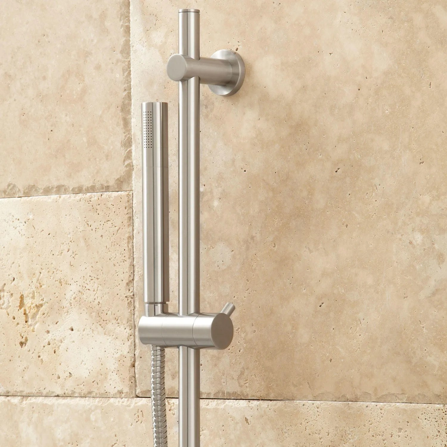 Isola Thermostatic Shower System with Wall Shower  Modern Hand Shower  Bathroom