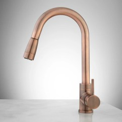 Copper Kitchen Faucet Where Can I Buy A Table Finite Single Hole With Swivel Spout And