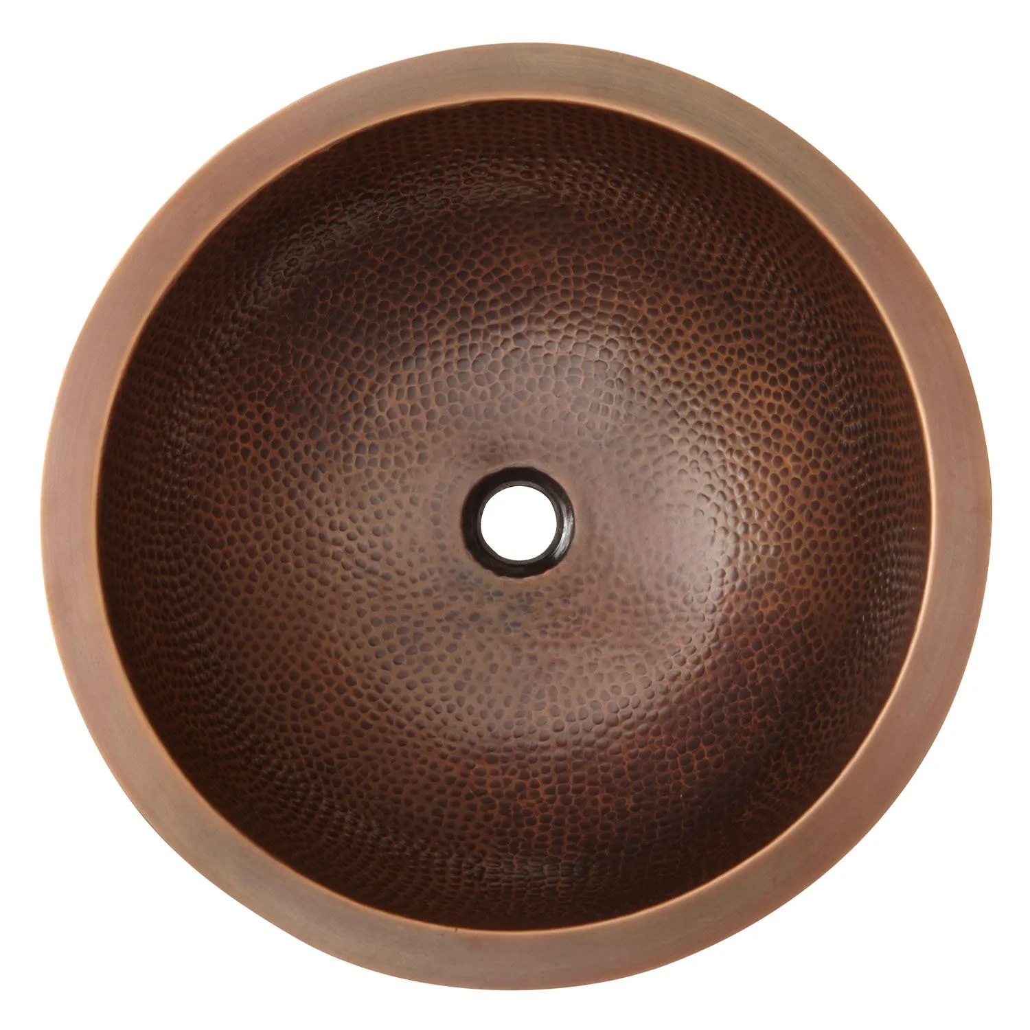 16 Baina ExtraDeep Round Hammered Copper Sink  Bathroom