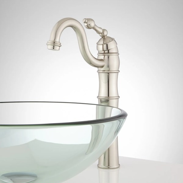 single hole bathroom faucet with pop up drain Trevena Single-Hole Vessel Faucet with Pop-Up Drain