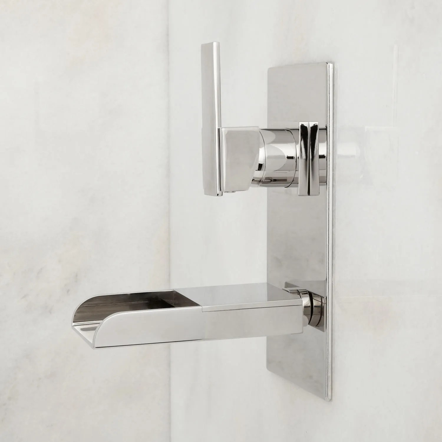 chrome kitchen faucet country sinks willis wall-mount bathroom waterfall -