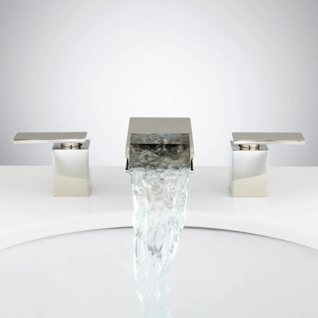 Willis Widespread Waterfall Faucet Bathroom
