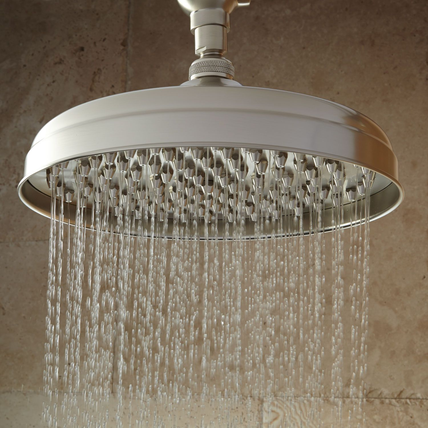 Lambert Rainfall Nozzle Shower Head With Victorian Arm  Bathroom