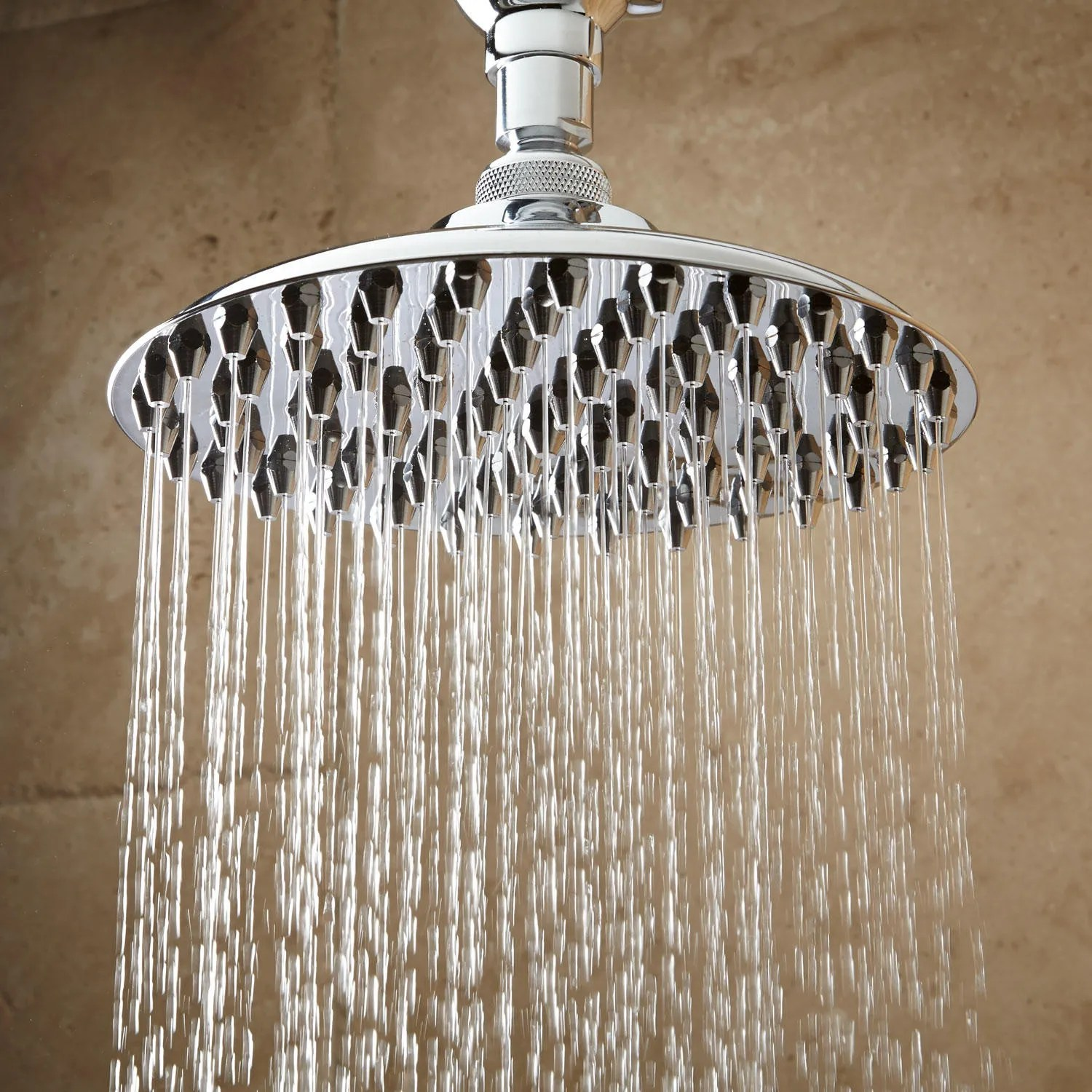 Bostonian Rainfall Nozzle Shower Head with SType Arm  Bathroom