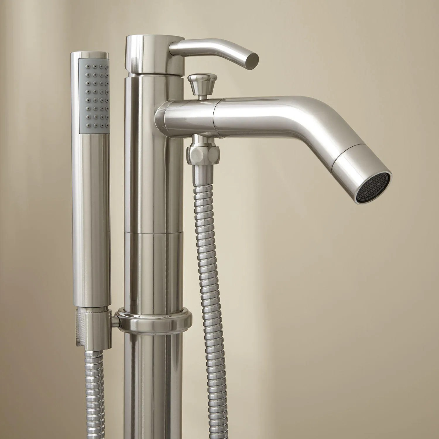 Caol Freestanding Tub Faucet with Hand Shower  Bathroom
