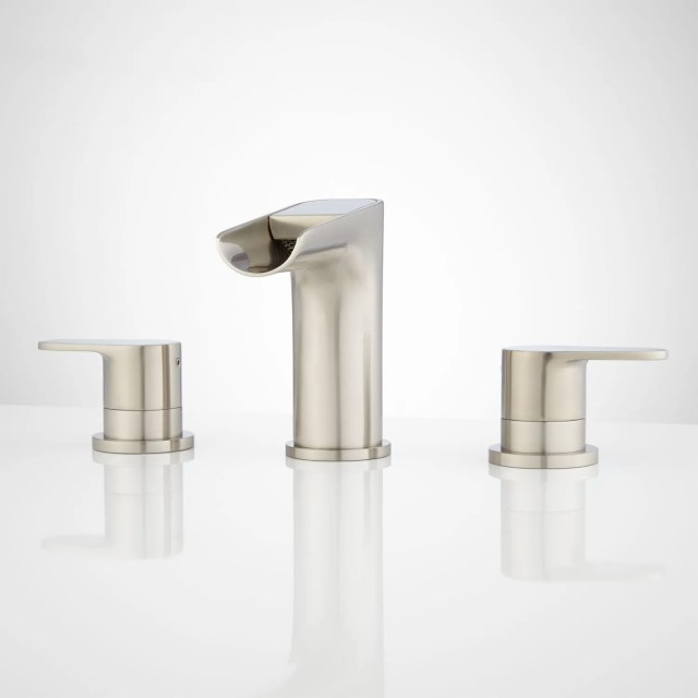 Pagosa Widespread Waterfall Faucet Bathroom